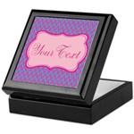 Pink and Blue Personalizable Keepsake Box