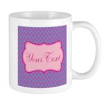 Pink and Blue Personalizable Mugs