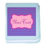 Pink and Blue Personalizable baby blanket