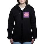 Pink and Blue Personalizable Women's Zip Hoodie