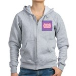 Pink and Blue Personalizable Zip Hoodie