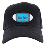 Personalizable Teal and Red Stripes Baseball Hat