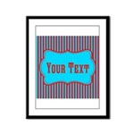 Personalizable Teal and Red Stripes Framed Panel P