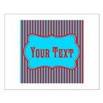 Personalizable Teal and Red Stripes Posters