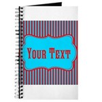 Personalizable Teal and Red Stripes Journal