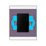 Personalizable Teal and Red Stripes Picture Frame