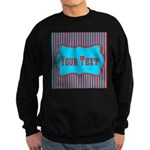 Personalizable Teal and Red Stripes Sweatshirt