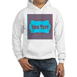 Personalizable Teal and Red Stripes Hoodie