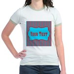Personalizable Teal and Red Stripes T-Shirt