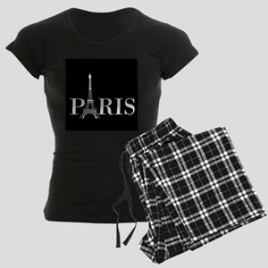 Paris Eiffel Tower Black White Pajamas