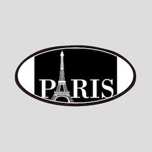 Paris Eiffel Tower Black White Patch