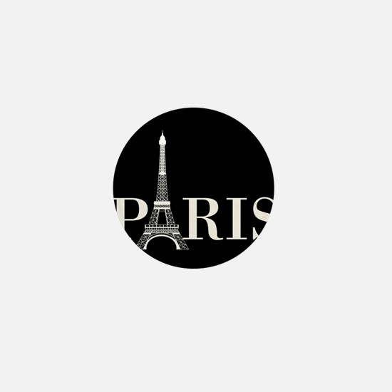Paris Eiffel Tower Black White Mini Button