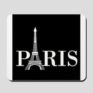 Paris Eiffel Tower Black White Mousepad