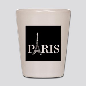 Paris Eiffel Tower Black White Shot Glass
