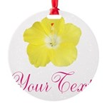Tropical Flower Personalizable Ornament