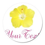Tropical Flower Personalizable Round Car Magnet