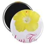 Tropical Flower Personalizable Magnets
