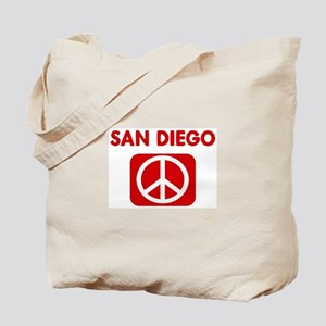 SAN DIEGO for peace Tote Bag