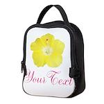 Tropical Flower Personalizable Neoprene Lunch Bag