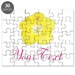 Tropical Flower Personalizable Puzzle