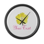 Tropical Flower Personalizable Large Wall Clock