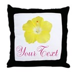 Tropical Flower Personalizable Throw Pillow