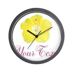 Tropical Flower Personalizable Wall Clock