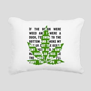 Weed Poem Rectangular Canvas Pillow