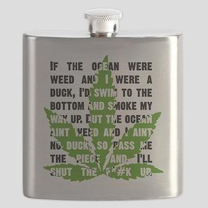 Weed Poem Flask