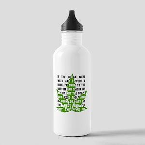 Weed Poem Water Bottle