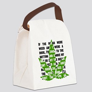 Weed Poem Canvas Lunch Bag
