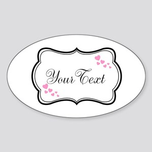 Personalizable Pink Hearts in Black Sticker