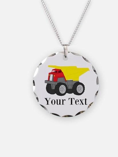 Personalizable Dump Truck Necklace