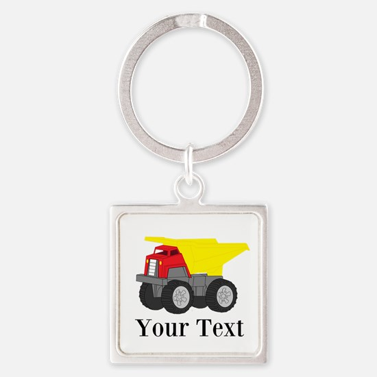 Personalizable Dump Truck Keychains