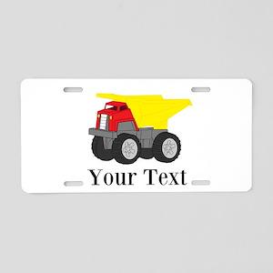 Personalizable Dump Truck Aluminum License Plate