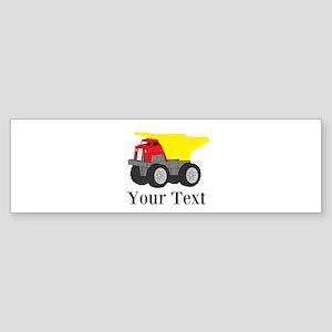 Personalizable Dump Truck Bumper Sticker