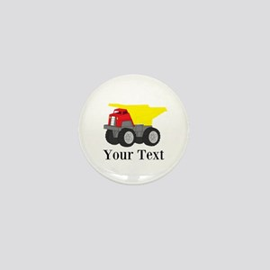 Personalizable Dump Truck Mini Button