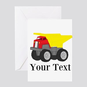 Personalizable Dump Truck Greeting Cards