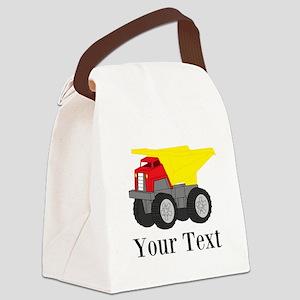 Personalizable Dump Truck Canvas Lunch Bag