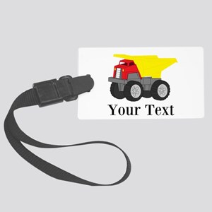 Personalizable Dump Truck Luggage Tag