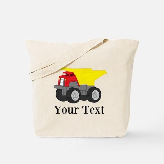Personalizable Dump Truck Tote Bag