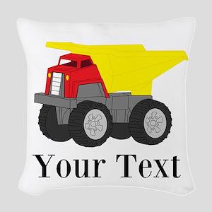 Personalizable Dump Truck Woven Throw Pillow