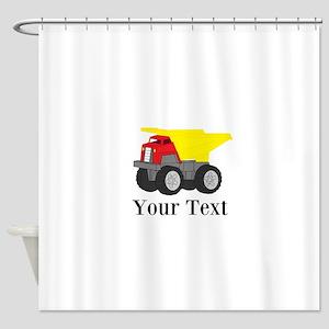 Personalizable Dump Truck Shower Curtain