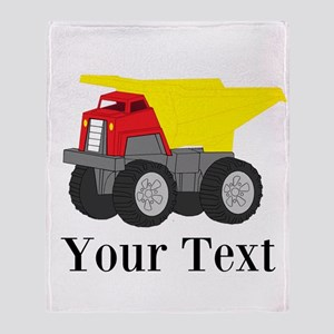 Personalizable Dump Truck Throw Blanket