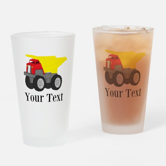 Personalizable Dump Truck Drinking Glass