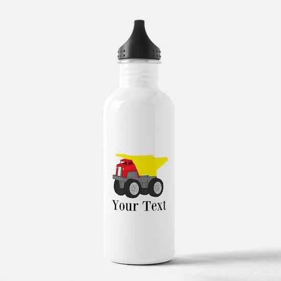 Personalizable Dump Truck Water Bottle