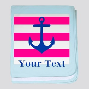 Personalizable Anchor baby blanket