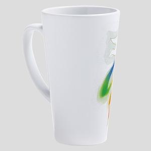 Rainbow Ribbon Wedding Dove 17 oz Latte Mug