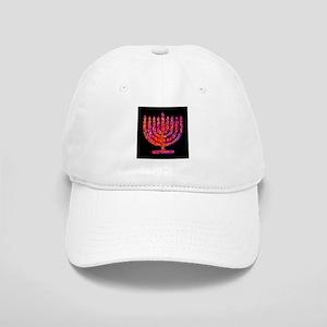 Pink Black Menorah Hannah's Fave Cap