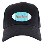 Personalizable Red on Teal Stripes Baseball Hat